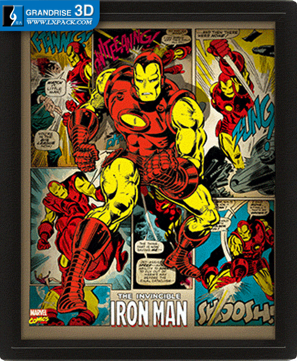 invincible iron man poster movie lenticular poster